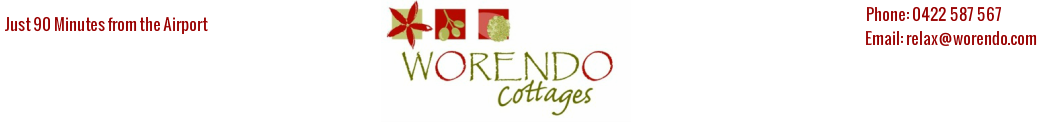 Holiday Cottages near Brisbane for Romantic,  Gourmet Getaway & Farm Stays Experience- Worendo Cottages